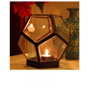 Glass Cube Candle Stand