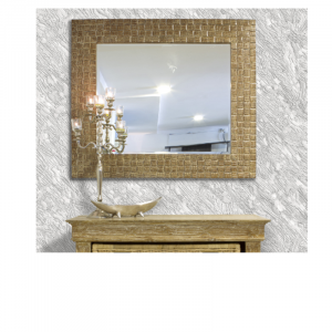 Wooden Frame Mirror Square