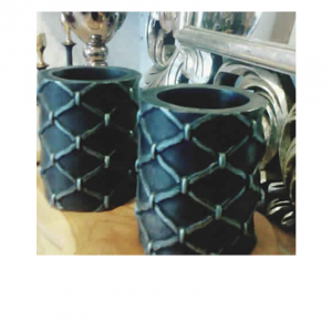 Grilled Pattern Candle Black