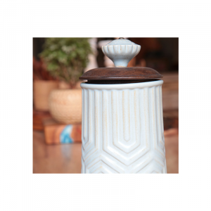 Wooden Lead Ceramic Jar 15