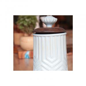Wooden Lead Ceramic Jar 15