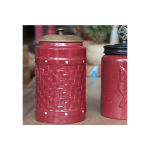 Red Ceramic Jar 16