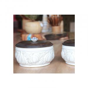 White Ceramic Jar 17