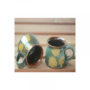 Green Leaves Tea Cup Ceramic 2