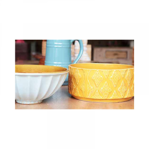 Yellow Ceramic Bowl 30