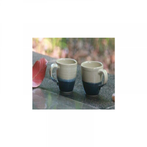Half White Blue Cups Ceramic 7