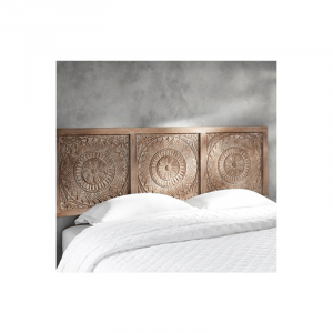 Wooden Headboards Dark Brown
