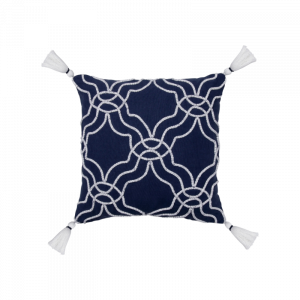 Greece White Curves Cushion 18×18