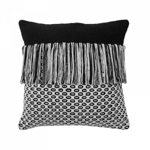 Greece Black And White Cushion 16×16