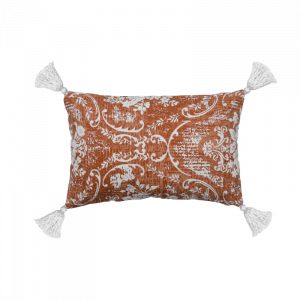 Navroz Orange Tassle Cushion 12×18