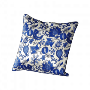 Blue Olle Floral Cushion 16×16