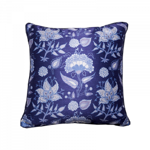 Indigo Floral Cushion 16×16