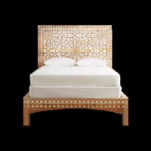 Mughal Sarai Carved Bed