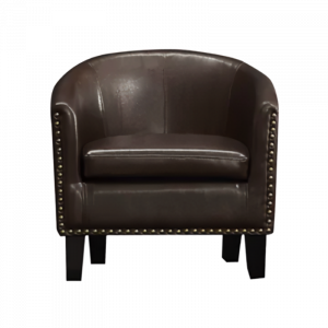 Hadlee Pure Leather Arm Chair