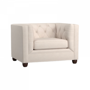 Clover Pin Tucked Armchair