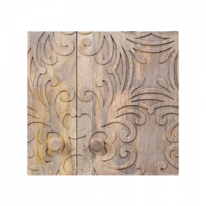 Wooden Headboard Flower Curved