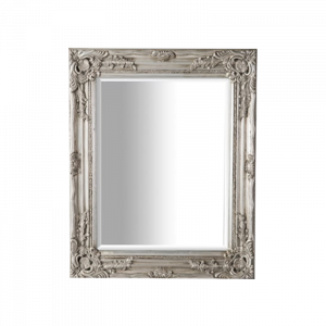 Wooden Frame Whitewash Mirror