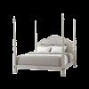 whitewashed Sofiya bed