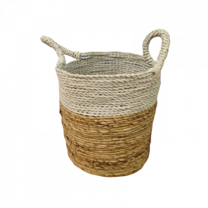 Cane Baskets White And Beige