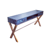 Leather Printers console table