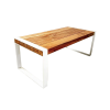 solid wood log dining table