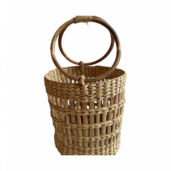 Jali Container with cane handle