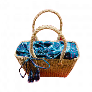 Ractangle Bag with cloth finishing