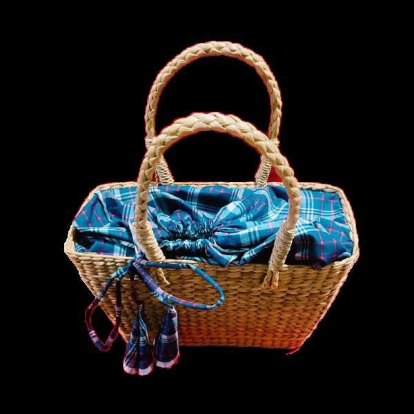 Ractangle Bag with cloth finishing