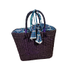 Ractangle Purple Bag with Cloth Finish