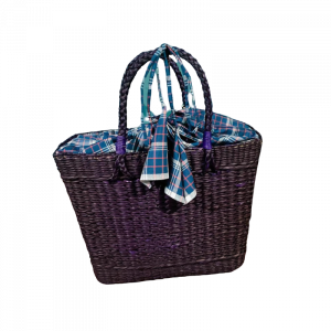 Woven Shopping Bag -Indigo