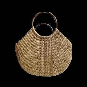 U Shaped Natural Cane Bag