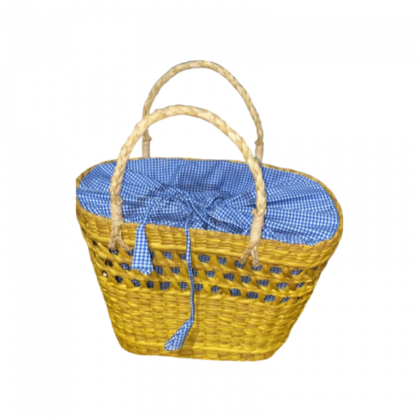 Yellow Net Bag with cloth Finish