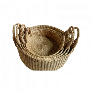 Round Basket Trays with Handle