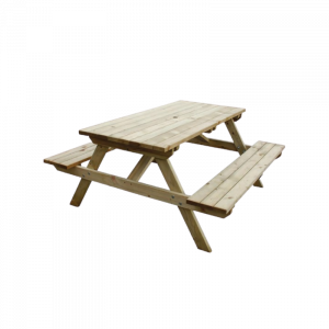Dining Table and Two Bench 02B