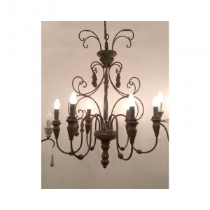 6 Light Chandelier 02O