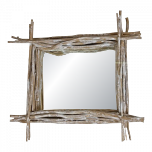 Wooden Branch Frame Mirror
