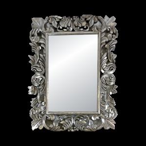 Wooden Silver Mirror Big