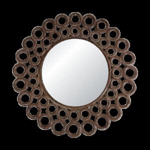 Round Wooden Circle Mirror