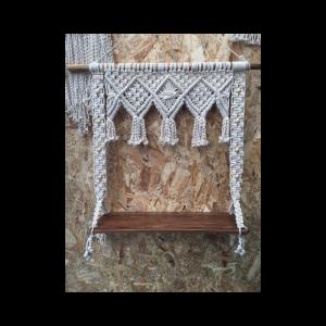 Handmade Macrame Elee Wall Hanging Storage Shelf Boho