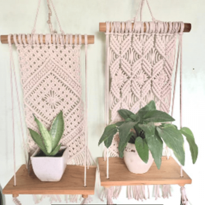 Macrame Small Plant Shelf