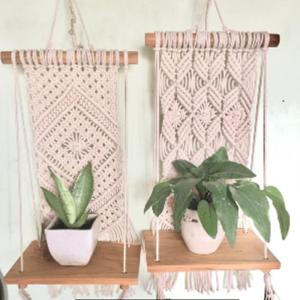 Macrame Small Plant Shelf