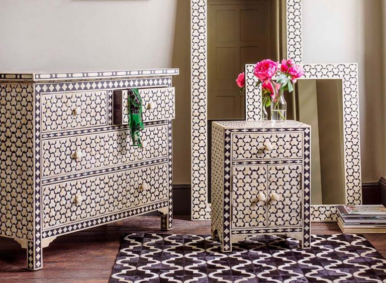 The intricacies of Bone Inlay furniture