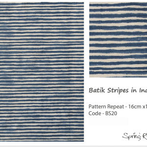 Batik Stripes in Indigo