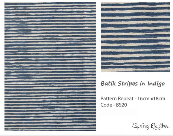 Batik Stripes in Indigo