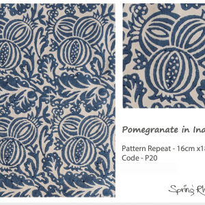 Pomegranate in Indigo