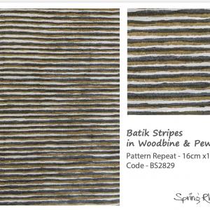 Batik Stripes in Woodbine & Pewter