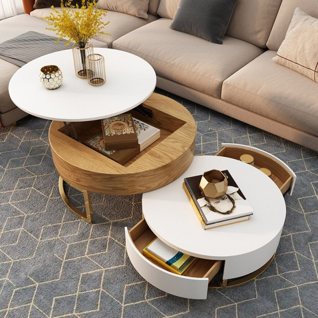 A Coffee Table with Compartments