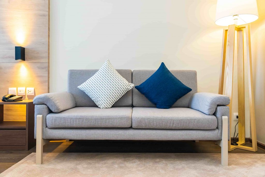 Modern sofas with a graceful