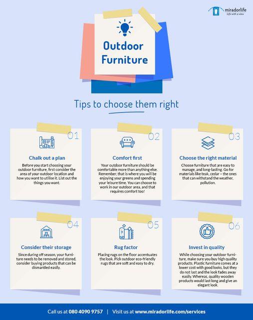 Oudoor furniture buying tips