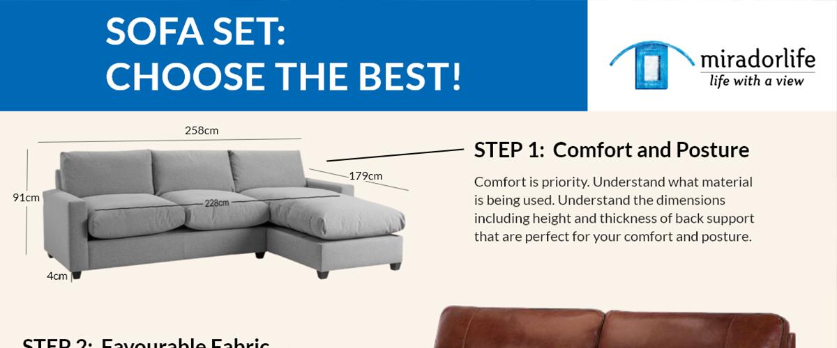 Sofa Set: Choose the Best!